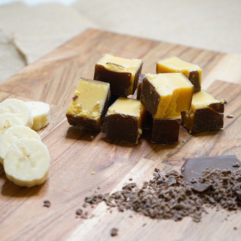 Chocolate Coated Banana Fudge