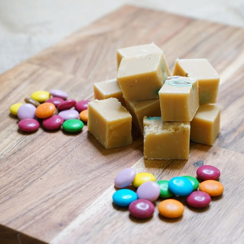 Rainbow Choc Bean Fudge